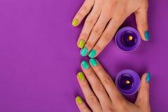 Beautiful female manicure Stock Photos