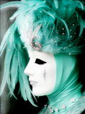 Beautiful female mask at carnival in Venice stock photography