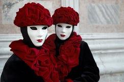 Beautiful female masks Stock Image
