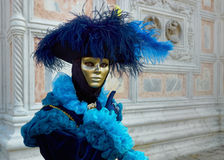 Beautiful female masks in carnival in Venice Stock Photos