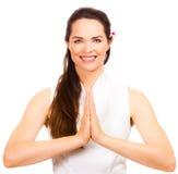 Beautiful female massage therapist Stock Photo