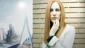 Beautiful female model stock photo
