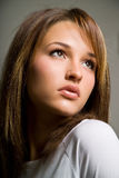 Beautiful Female Model. A beautiful young woman model looking away Stock Photo