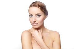 Beautiful female model bright makeup Stock Photography