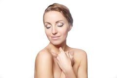 Beautiful female model bright makeup Stock Image