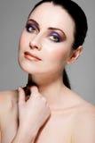 Beautiful female model with full makeup. Stock Image