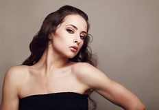 Beautiful female model with long hair posing Royalty Free Stock Photo