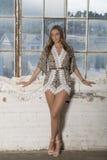 Beautiful female model in studio - fashion Stock Photography