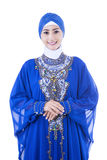 Beautiful female muslim isolated on white Royalty Free Stock Photography