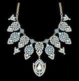 beautiful female necklace with precious stones o Stock Photo