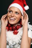 Beautiful female nikolaus Stock Photo