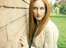 Beautiful female portrait stock photos