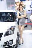 Beautiful female presenters model of motor show. In Bangkok Thailand Stock Images