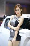 Beautiful female presenters model of motor show. In Bangkok Thailand Stock Photos