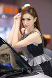 Beautiful female presenters model of motor show. In Bangkok Thailand Stock Photo