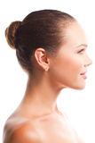 Beautiful female profile Stock Photo