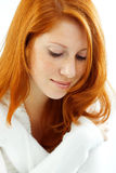 Beautiful female with red hair Royalty Free Stock Image