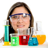 Beautiful female science stude Stock Photos