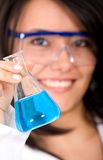 Beautiful female scientist Stock Photo