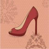 Beautiful female shoes Stock Photos