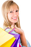 Beautiful female shopper Stock Images