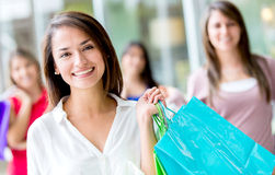 Beautiful female shopper Stock Photo