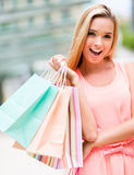 Beautiful female shopper Royalty Free Stock Photo