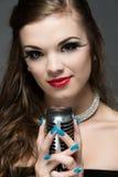 Beautiful female singer Royalty Free Stock Image