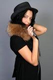 Beautiful female singer singing Stock Image