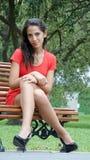 Beautiful Female Sitting Stock Photo