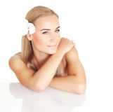 Beautiful female in spa salon Royalty Free Stock Photography