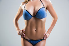 Beautiful female stomach and chest. Royalty Free Stock Photos