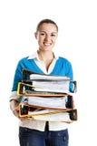 Beautiful female student Stock Images