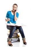 Beautiful female student Stock Image