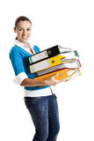 Beautiful female student Royalty Free Stock Photography
