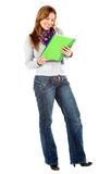 Beautiful female student Royalty Free Stock Image
