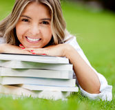 Beautiful female student Stock Image