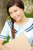 Beautiful female student royalty free stock photos