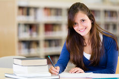 Beautiful female student Stock Photo