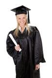 Beautiful female student graduating Stock Photo