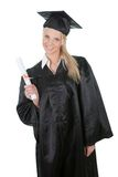 Beautiful female student graduating Stock Photos