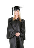 Beautiful female student graduating Stock Images