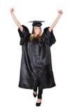 Beautiful female student graduating Royalty Free Stock Photos