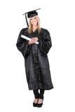 Beautiful female student graduating Stock Photos