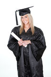 Beautiful female student graduating Stock Photo