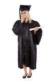 Beautiful female student graduating Stock Photography