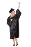 Beautiful female student graduating Royalty Free Stock Images