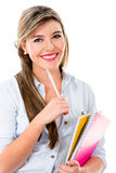 Beautiful female student Stock Photography