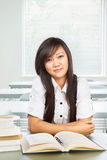 Beautiful female student looking to camera Stock Photography