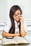 Beautiful female student looking to camera Stock Photo